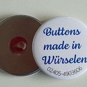 Button 75er mit Kühlschrankmagnet rund